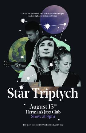 Star Triptych  (ft), Elisa Thorn, Laura Swankey, David Riddel @ Hermann's Jazz Club Aug 15 2016 - Oct 22nd @ Hermann's Jazz Club