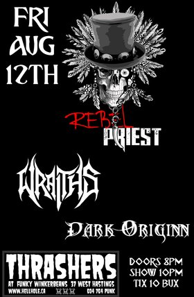 Rebel Priest, WRAITHS, Dark Originn @ Funky Winker Beans Aug 12 2016 - Sep 17th @ Funky Winker Beans