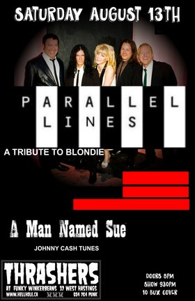 TRIBUTES TO BLONDIE AND JOHNNY CASH~~: Parallel Lines, A Man Named Sue @ Funky Winker Beans Aug 13 2016 - Sep 17th @ Funky Winker Beans