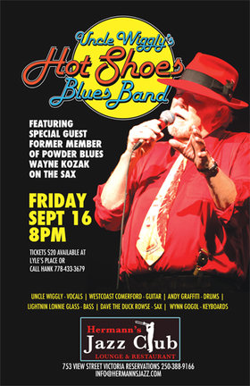 Uncle Wigglys Hot Shoes Blues Band @ Hermann's Jazz Club Sep 16 2016 - Apr 18th @ Hermann's Jazz Club