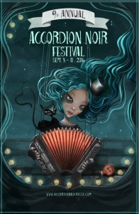 9th Annual Accordion Noir Festival presents Love Potion Cabaret: Nefertiti in the Kitchen, Patrick Farrell and Ben Holmes, Jet Black Pearl, Nathan Shubert, Tim Chan, Duo Finelli, Geoff Berner @ New York Theatre Sep 9 2016 - May 31st @ New York Theatre