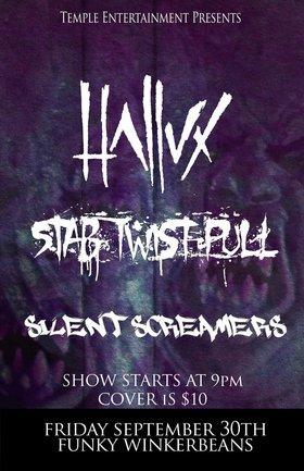 HALLUX, STAB.TWIST.PULL., Silent Screamers @ Funky Winker Beans Sep 30 2016 - Sep 17th @ Funky Winker Beans
