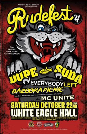 RUDEFEST 2016: Dope Soda, Everybody Left, Bazooka Picnic, MC Unite! @ White Eagle Polish Hall Oct 22 2016 - Sep 26th @ White Eagle Polish Hall