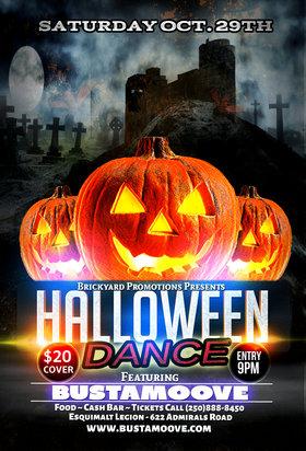Halloween Dance Victoria 2016: Bustamoove @ Esquimalt Legion Oct 29 2016 - Oct 17th @ Esquimalt Legion