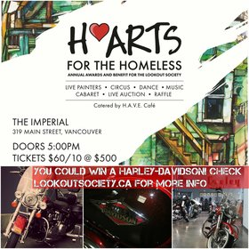 H'Arts for the Homeless Benefit - Live Art, Music and Performances: Next Evolution Dance Company, Ladies in White, Clara Shandler (The Sidewalk Cellist), David C. Jones, Deanna Knight, Laura Zerebeski, Bill Higginson, Donna Giraud @ The Imperial Oct 6 2016 - Jul 12th @ The Imperial