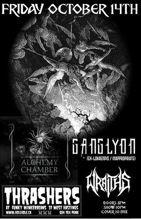 Alchemy Chamber, GANGLYON, WRAITHS @ Funky Winker Beans Oct 14 2016 - Sep 17th @ Funky Winker Beans