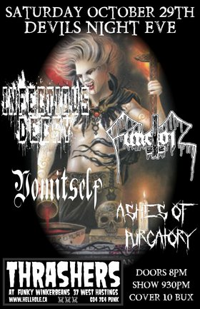 DEVILS NIGHT EVE WITH~: Infectious Decay, Functor , VOMITSELF, ASHES OF PURGATORY @ Funky Winker Beans Oct 29 2016 - Sep 17th @ Funky Winker Beans