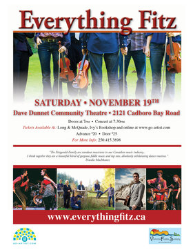 Everything Fitz: Everything Fitz, Julie Fitzgerald, Kerry Fitzgerald, Tom Fitzgerald, Nate Douglas @ Dave Dunnet Community Theatre (Oak Bay High School) Nov 19 2016 - Feb 26th @ Dave Dunnet Community Theatre (Oak Bay High School)