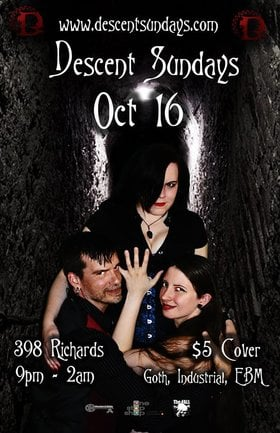 Descent October Goth Night @ The Red Room Oct 16 2016 - Aug 14th @ The Red Room