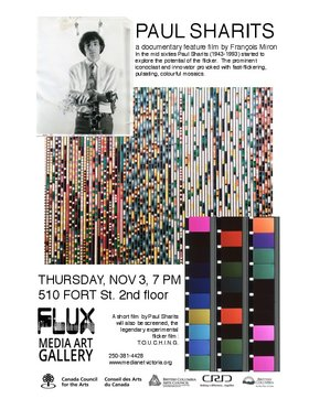 Paul Sharits documentary film screening: Paul Sharits, Francois Miron @ FLUX MEDIA GALLERY Nov 3 2016 - Sep 21st @ FLUX MEDIA GALLERY