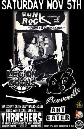 MY LAST FUNKYS SHOW ~~: Legion of Goons, BEAVERETTE, Motorama @ Funky Winker Beans Nov 5 2016 - Sep 17th @ Funky Winker Beans