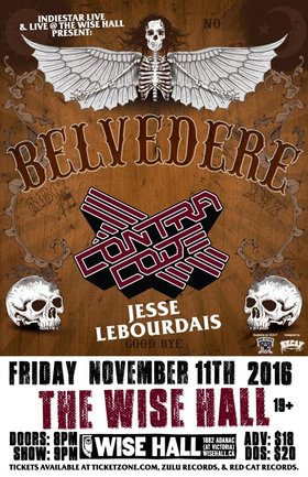 Belvedere, Contra Code, Jesse LeBourdais @ WISE Hall Nov 11 2016 - May 28th @ WISE Hall