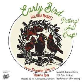 Early Bird Holiday Market - Pottery, Art, Craft @ The Arts Centre at Cedar Hill  Nov 19 2016 - Jul 14th @ The Arts Centre at Cedar Hill