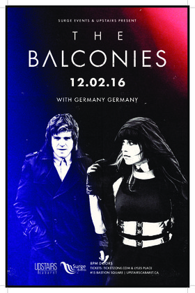 Balconies, Germany Germany @ The Upstairs Cabaret Dec 2 2016 - May 19th @ The Upstairs Cabaret