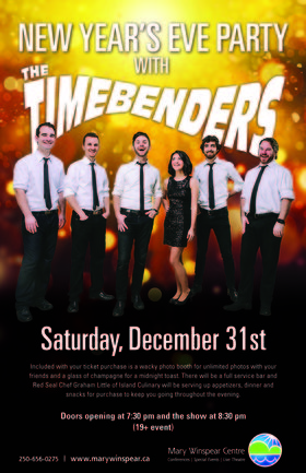 New Year's Eve: the Timebenders @ The Mary Winspear Centre Dec 31 2016 - Jun 2nd @ The Mary Winspear Centre