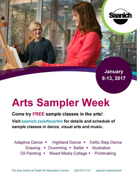Arts Sampler Week @ The Arts Centre at Cedar Hill  Jan 8 2017 - Jul 14th @ The Arts Centre at Cedar Hill