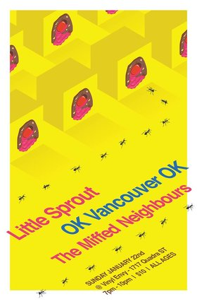 Little Sprout  (Vancouver), Ok Vancouver Ok (Vancouver), The Miffed Neighbours @ Vinyl Envy Jan 22 2017 - Mar 25th @ Vinyl Envy