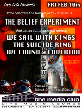 Sail with Kings, The Belief Experiment, The Suicide Ring, We Found a Lovebird @ The Media Club Feb 10 2017 - Sep 28th @ The Media Club