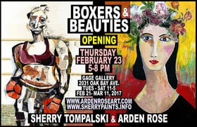 AFGHAN FEMALE BOXERS paintings: Sherry Tompalski, Arden Rose @ Gage Gallery - Oak Bay Feb 23 2017 - Feb 26th @ Gage Gallery - Oak Bay