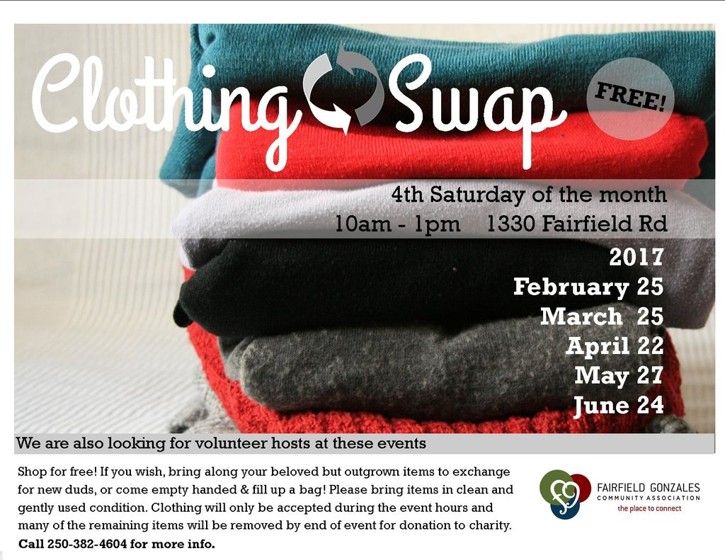 Free Clothing Swap: @ Fairfield Community Place, 1330