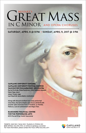 Mozart's Great Mass in C minor, and Opera Choruses