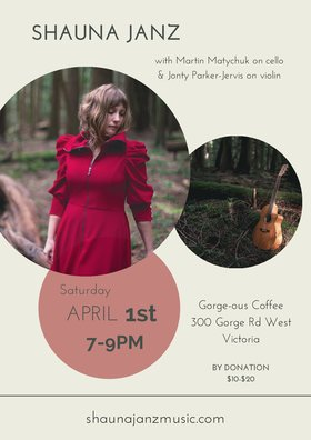 Shauna Janz - Evening of Story and Song @ Gorge-ous Coffee Apr 1 2017 - Feb 16th @ Gorge-ous Coffee