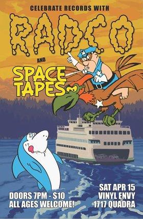 RADCO, Spacetapes @ Vinyl Envy Apr 15 2017 - Oct 23rd @ Vinyl Envy