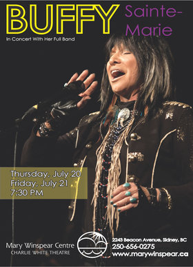 Buffy Sainte-Marie, Leeroy Stagger @ The Mary Winspear Centre Jul 20 2017 - Oct 26th @ The Mary Winspear Centre