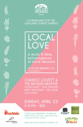 Local Love: Oaklands Sunset Market Fundraiser: Chance Lovett and the Broken Hearted, LOVECoast, Dirty Mountain, Dug Nugget, The Choir, Jugo Bossa @ Hoyne Brewing Co. Apr 23 2017 - Sep 20th @ Hoyne Brewing Co.