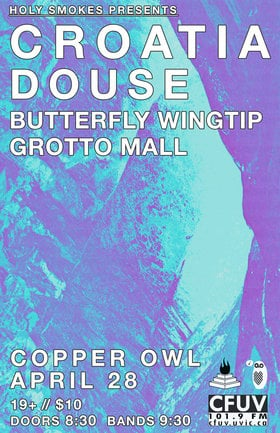 Douse, CROATIA, Butterflywingtip, Grotto Mall @ Copper Owl Apr 28 2017 - Oct 22nd @ Copper Owl