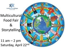 Multicultural Food Fair and Storytelling: Bollywood Beats, Zimbabwe Music Society, Thailand Dance Group, Food Vendors From Around The World, Stories across cultures @ Cook Street Village Activity Centre Apr 22 2017 - Apr 4th @ Cook Street Village Activity Centre