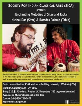 Enchanting Melodies of Sitar and Tabla: Kushal Das, Ramdas Palsule @ David Lam Auditorium Apr 29 2017 - Oct 18th @ David Lam Auditorium