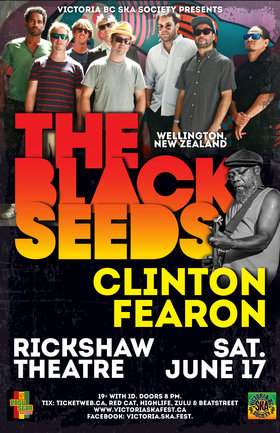 THE BLACK SEEDS & CLINTON FEARON acoustic  (Vancouver show): The Black Seeds, Clinton Fearon @ Rickshaw Theatre Jun 17 2017 - Feb 20th @ Rickshaw Theatre