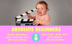 Absolute Beginners: Newbie Filmmakers 4-Part Workshop Series @ CineVic Society Of Independent Filmmakers Jun 24 2017 - Oct 19th @ CineVic Society Of Independent Filmmakers