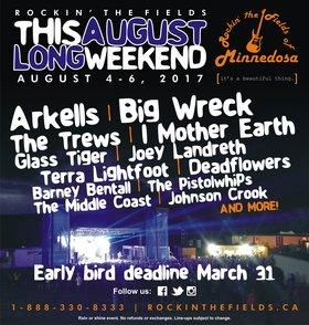 Band of Rascals, Arkells, Big Wreck @ Rockin' The Fields Aug 6 2017 - Oct 18th @ Rockin' The Fields