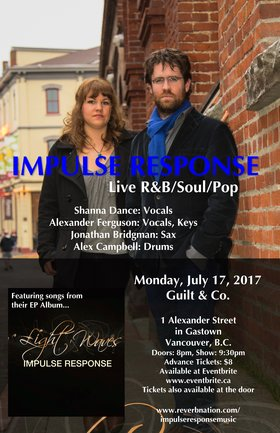 Impulse Response, Alexander Ferguson, Shanna Dance @ Guilt & Co. Jul 17 2017 - Dec 8th @ Guilt & Co.