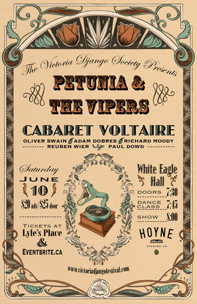 Western and Gypsy Swing night: Petunia and the Vipers, Cabaret Voltaire @ White Eagle Polish Hall Jun 10 2017 - May 27th @ White Eagle Polish Hall
