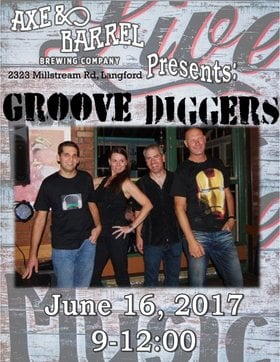 Groove Diggers, Tomo Vranjes @ Axe & Barrel Brew Pub Jun 16 2017 - Jun 2nd @ Axe & Barrel Brew Pub