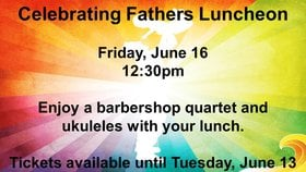 Celebrating Father's Lunch @ Cook Street Village Activity Centre Jun 16 2017 - Apr 4th @ Cook Street Village Activity Centre