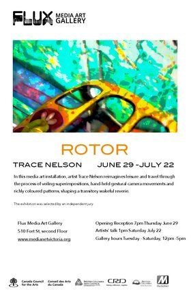 Rotor: Trace Nelson @ FLUX MEDIA GALLERY Jun 29 2017 - Sep 21st @ FLUX MEDIA GALLERY