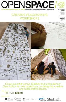 Creative Placemaking Workshop: Jennie Suddick, Sara Udow  @ Open Space Jun 22 2017 - Feb 22nd @ Open Space
