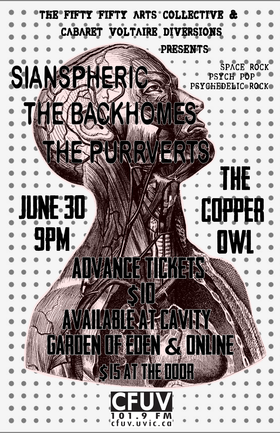 Sianspheric, The Backhomes, THE PURRVERTS - Sep 17th @ Copper Owl