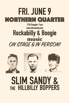Rockabilly party: Slim Sandy and the Hillbilly Boppers @ Northern Quarter Jun 9 2017 - Dec 8th @ Northern Quarter