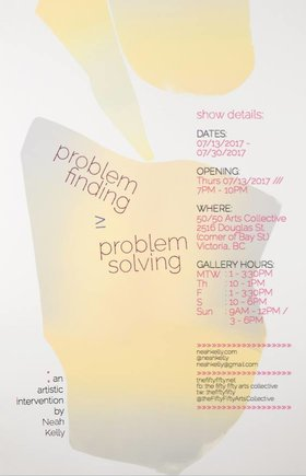 Neah Kelly: Problem Finding ≥ Problem Solving: Neah Kelly - Sep 17th @ the fifty fifty arts collective