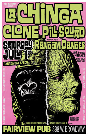 Canada Day July 1st: La Chinga, Clone, Pill Squad, Random Dander  @ Fairview Pub Jul 1 2017 - May 31st @ Fairview Pub