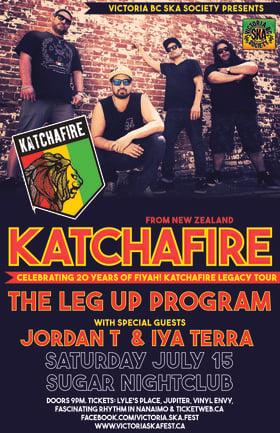 KATCHAFIRE'S 20TH ANNIVERSARY CONCERT w/ special guest The Leg Up Program: KATCHAFIRE, The Leg-Up Program, Iya Terra, Jordan T @ Capital Ballroom Jul 15 2017 - Sep 26th @ Capital Ballroom