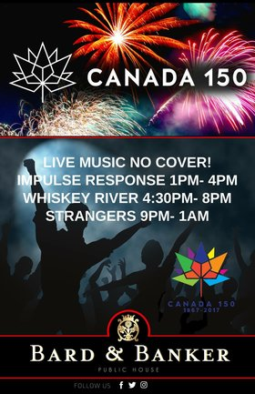 Canada Day 150 with Impulse Response at Bard & Banker: Impulse Response @ Bard & Banker Jul 1 2017 - Dec 8th @ Bard & Banker