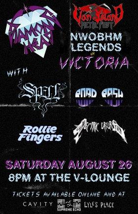 Vancouver Island Metal Festival Night 2: Diamond Head, Spell, ROAD RASH, Electric Druids, Rollie Fingers @ V-lounge Aug 26 2017 - Oct 24th @ V-lounge
