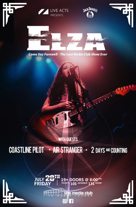 Elza, Coastline Pilot, Air Stranger, 2 Days and Counting @ The Media Club Jul 28 2017 - Mar 28th @ The Media Club