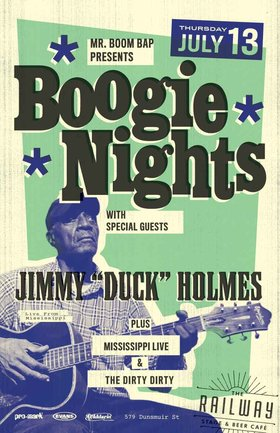 "Live from Bentonia, Mississippi: Jimmy ""Duck"" Holmes, Mississippi Live and the Dirty Dirty @ Railway Club Jul 13 2017 - Feb 24th @ Railway Club"